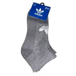 Adidas 3 Pair Men's Low Cut Socks Trefoil Logo